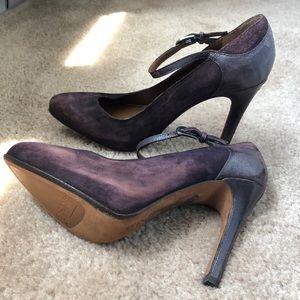 Donald J. Pliner suede/leather heels. Sz 6
